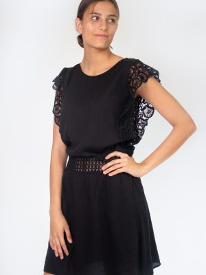 black dress for women with lace fashion capsule by juliette