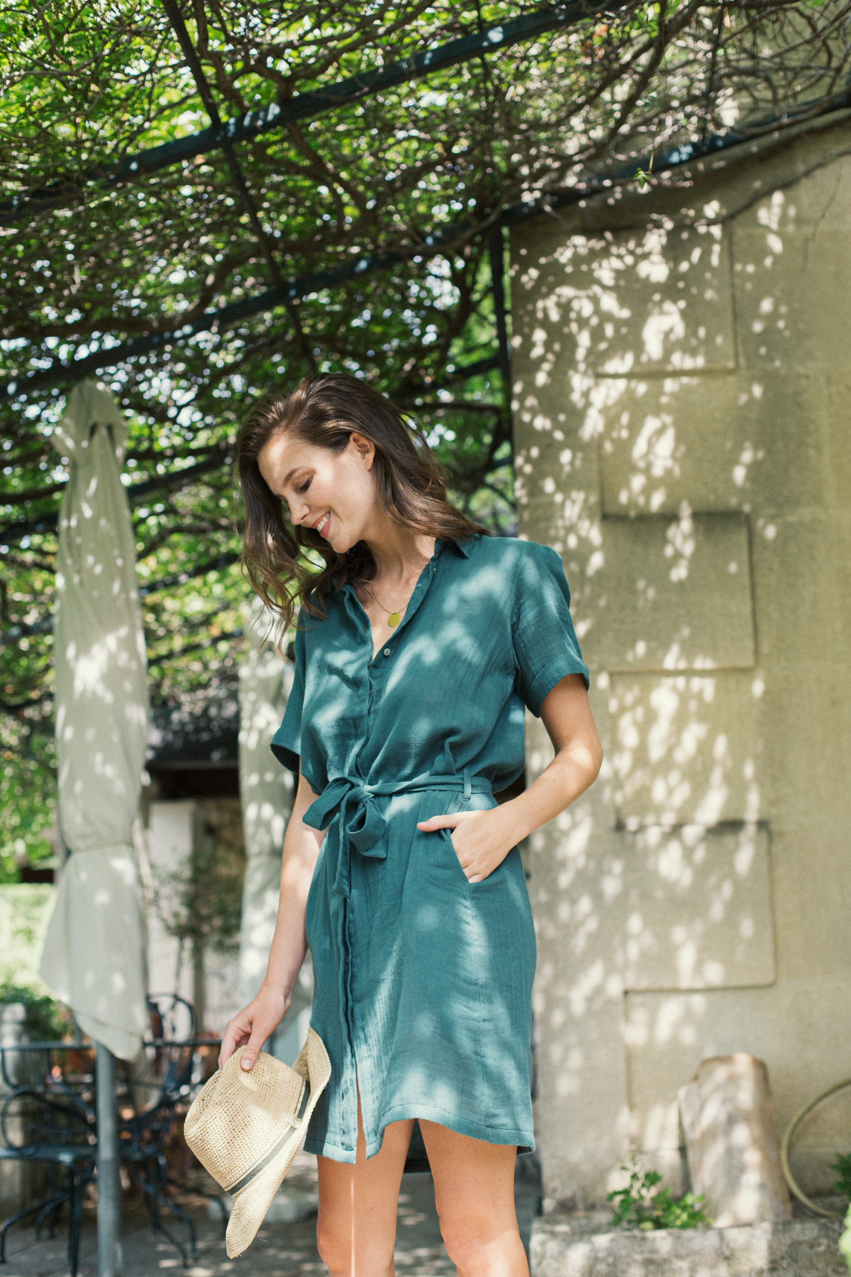 green short sleeves shirt dress for women fashion capsule by juliette
