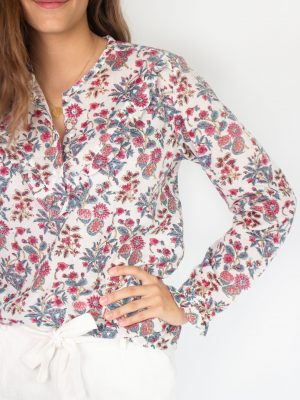 top for women botanical print fashion capsule by juliette