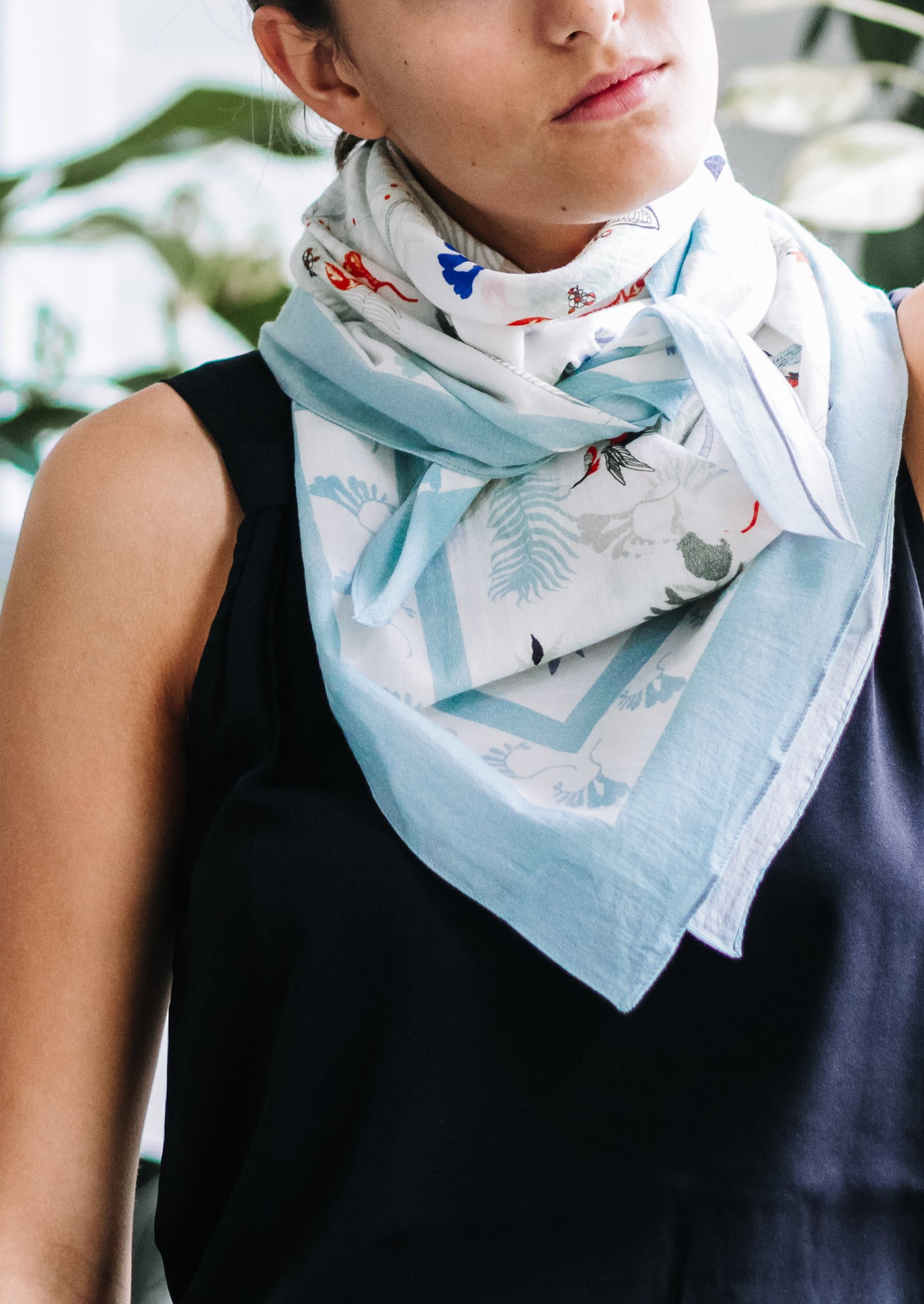 white scarf for women with birds fashion capsule by juliette